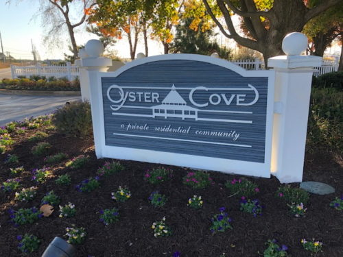 Oyster Cove sign